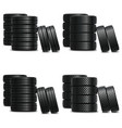 truck tire sets vector image vector image