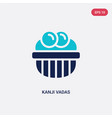 two color kanji vadas icon from india and holi vector image vector image