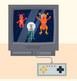 ufo game fantastic characters on television sqreen vector image