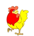 yellow chicken vector image vector image