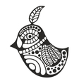 Black and white bird for coloring vector image
