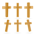 cross set vector image