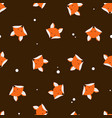 cute foxes seamless pattern vector image