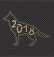 2018 chinese new year of yellow dog minmal concept vector image vector image