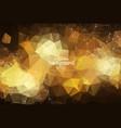 abstract dark orange geometric polygonal vector image