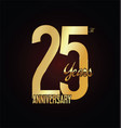 anniversary golden sign 25 years vector image vector image