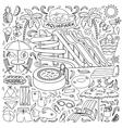 Aquapark doodle set vector image