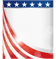 background border with symbols usa flag vector image vector image