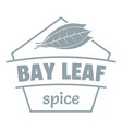 bay leaf spice logo simple gray style vector image