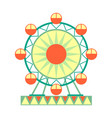 big ferris wheel ride part of amusement park and vector image