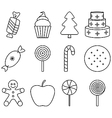 black and white christmas sweets vector image vector image