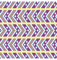 bold arrow chevron seamless pattern pixel blocks vector image vector image