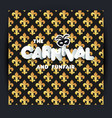 carnival or mardi gras decoration seamless vector image vector image