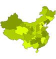 China contour map vector image