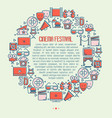 cinema festival concept in circle vector image vector image
