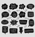 collection of hand drawn speech bubbles with vector image