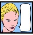 Comics Girl vector image vector image