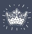 crown on dark background vector image