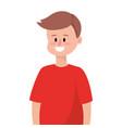 cute upperbody man cartoon vector image