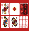 diamond suit playing cards full set vector image vector image