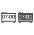 digital clock line and glyph icon electronic vector image vector image