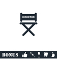Director chair icon flat vector image vector image