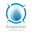 drop water pure shapes symbol design icon vector image