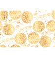 elegant gold geometric dandelion flowers vector image vector image