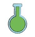 erlenmeyer flask chemistry vector image vector image