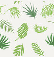 exotic green branch seamless white background vector image