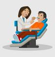 female dentist cartoon character vector image