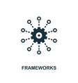 frameworks icon monochrome style design from big vector image vector image