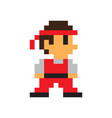 game character man icon color pixel vector image vector image