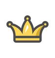golden crown for a royal king icon cartoon vector image