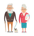 grandmother and grandfather vector image