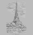 grey hand drawing paris 1 vector image vector image