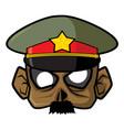 halloween paper mask - commander zombie vector image vector image