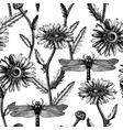 hand drawn medical plant sketch seamless pattern vector image vector image