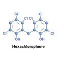 hexachlorophene is an organochlorine vector image vector image