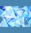 light blue triangle abstract background vector image vector image