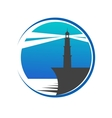 Lighthouse button or icon vector image