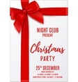 Merry Christmas party invitation vector image vector image