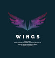modern colored logo wings vector image vector image