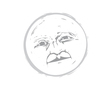 Moon Face 1 vector image vector image