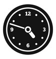 office wall clock icon simple style vector image