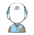 old man teacher with uniform clothes vector image vector image