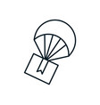 parachute flying with box delivery service vector image