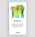 people in development startup business creation vector image