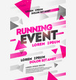 poster design for sport event running tournament vector image
