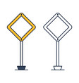 priority traffic sign main road in shape vector image